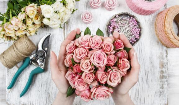 Création bouquet de fleurs